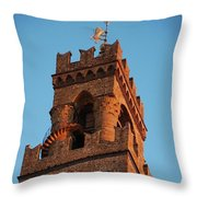 Palazzo Vecchio In Florence  Throw Pillow
