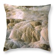 Palette Spring In Mammoth Hot Springs Throw Pillow