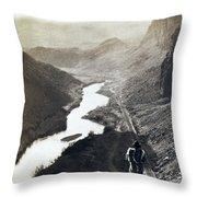 Palisades Railroad View - California - C 1865 Throw Pillow