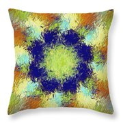 Pallet Of Colors Throw Pillow