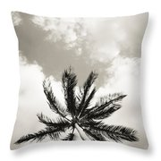 Palm And Sky Throw Pillow