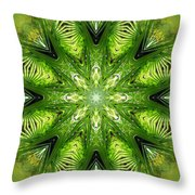 Palm Kaleidoscope 11 Throw Pillow