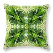 Palm Kaleidoscope 6 Throw Pillow