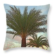 Palm On The Avenida Throw Pillow