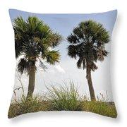 Palm Sea Oat Hill  Throw Pillow