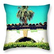Palm Springs Desert Spanish 4 Throw Pillow by Randall Weidner