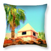 Palm Springs Pyramid Colonial Throw Pillow by Randall Weidner