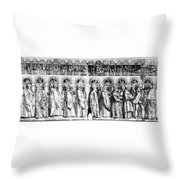 Palm Sunday Procession Throw Pillow
