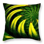 Palm Tree Abstract Throw Pillow