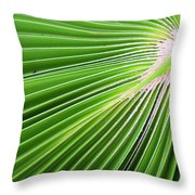 Palm Tree Frond Throw Pillow