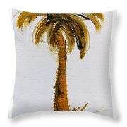 South Carolina Palm Tree Throw Pillow