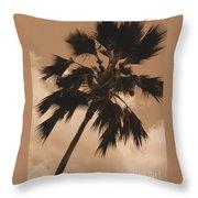 Palm Tree Leeward Oahu Throw Pillow