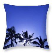 Palm Tree Silhouettes Throw Pillow