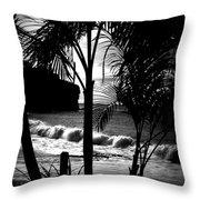 Palm Tree Silouette Throw Pillow