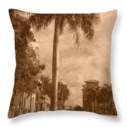 Palm Tree Throw Pillow by Trish Tritz