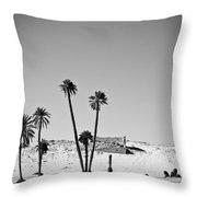 Palm Trees In The Sahara Desert Throw Pillow