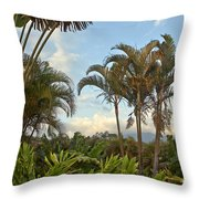 Palms In Costa Rica Throw Pillow