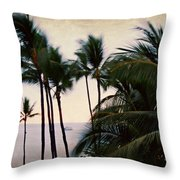 Palms In The Breeze Throw Pillow