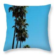 Palms Over Oak Throw Pillow