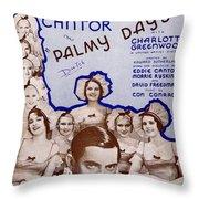 Palmy Days Throw Pillow