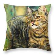 Palo Verde Kitty Throw Pillow
