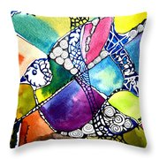 Paloma Viajera Throw Pillow