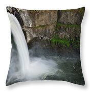 Palouse Falls In Spring Throw Pillow