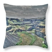 Palouse River Canyon Throw Pillow