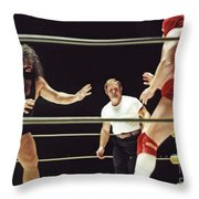 Pampero Firpo Vs Texas Red In Old School Wrestling From The Cow Palace  Throw Pillow