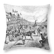 Panama Railway, 1888 Throw Pillow by Granger