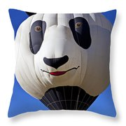 Panda Bear Hot Air Balloon Throw Pillow