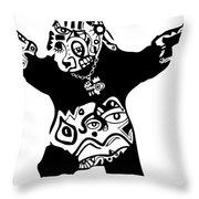 Pandameic Throw Pillow