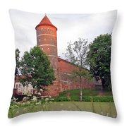 Panemunes Castle. Lithuania. Throw Pillow