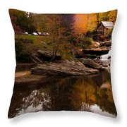 Panorama  Glade Creek Mill Throw Pillow