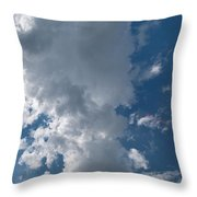 Panoramic Clouds Number 1o Throw Pillow