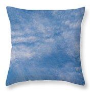 Panoramic Clouds Number 4 Throw Pillow