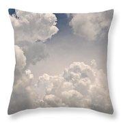 Panoramic Clouds Number 9 Throw Pillow