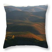 Panoramic Over Sapper Hill Throw Pillow