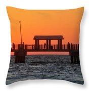 Panoramic Pier Throw Pillow