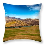 Panoramic Range Land Throw Pillow