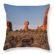 Panoramic View Of Balance Rock                                                       Throw Pillow
