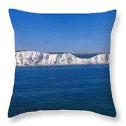 Panoramic View Of Sailboats On Sea Throw Pillow