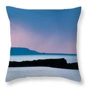 Panoramic View Of Skerries Islands Throw Pillow