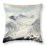 Panoramic View Of Snow-covered St Throw Pillow