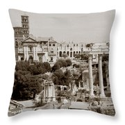 Panoramic View Via Sacra Rome Throw Pillow