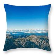 Panoramic View Zugspitze German Austrian Boarder Throw Pillow