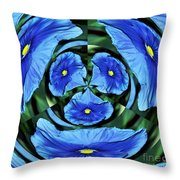 Pansy In Triplicate Throw Pillow