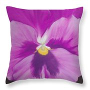 Pansy V Throw Pillow