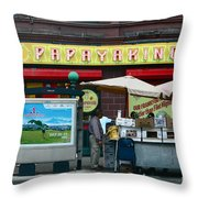 Papaya King Throw Pillow