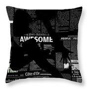 Paper Dance Throw Pillow